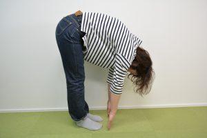 治療後、背中や腰が緩んだため可動域が広がった